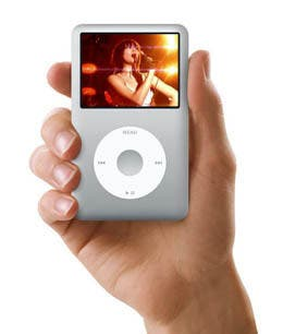 Imagen de publicidad de iPod classic