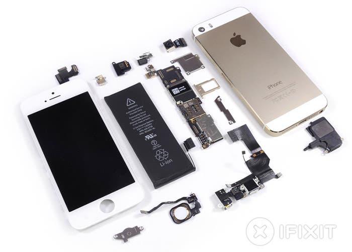 Desarme completo del iPhone 5s por iFixit