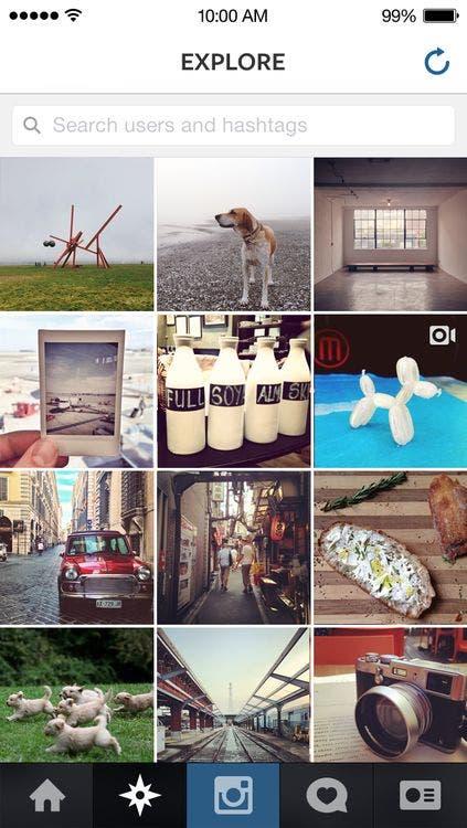Nueva versión de la app de Instagram