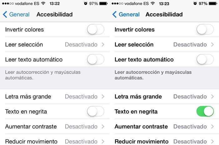 Cambio de tipografía en iOS 7