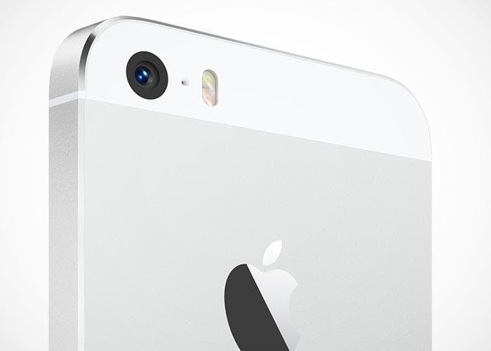 Primer plano de la cámara del iPhone 5s