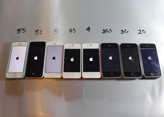 Test de velocidad de todos los iPhone
