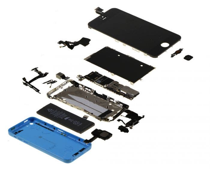 iPhone 5c desmontado
