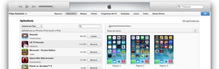 Configurando iTunes con iOS 7