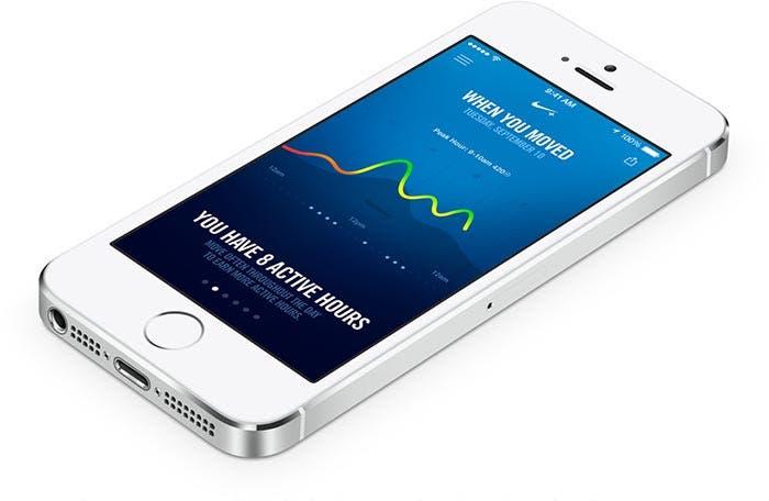 Aplicación de Nike+ aprovechándose del nuevo Apple M7