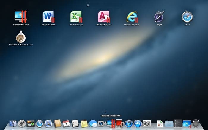 Launchpad usando Parallels