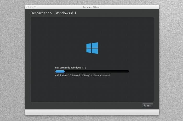 Ventana de descarga de Windows 8.1