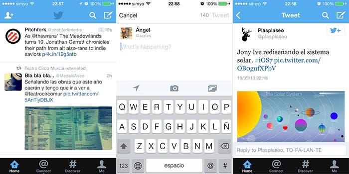 Twitter en iOS 7