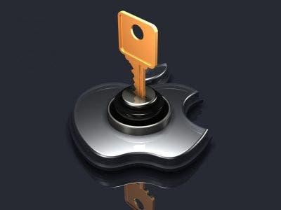Logo de Apple con una llave