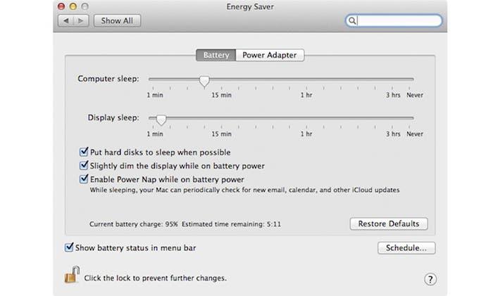 Activar Power Nap en Mac