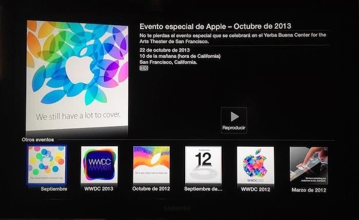 Detalles de la keynote en el Apple TV