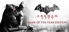Cabecera del juego Batman Arkham City en Steam