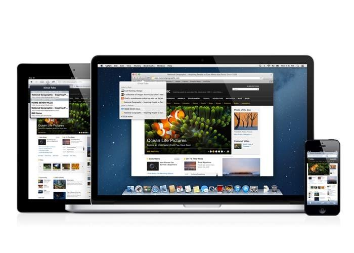 iPad iPhone y iMac usando Safari