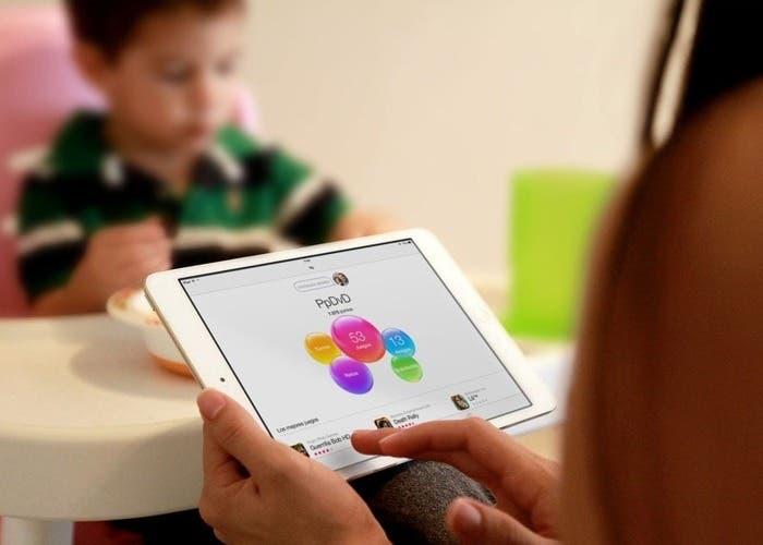 Pantalla principal de Game Center en el iPad mini
