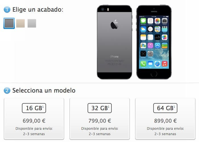 iPhone 5s en la Apple Store