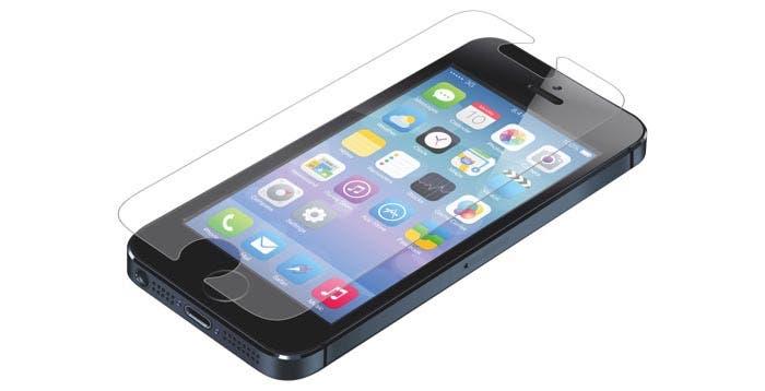 iPhone 5 con protector de pantalla