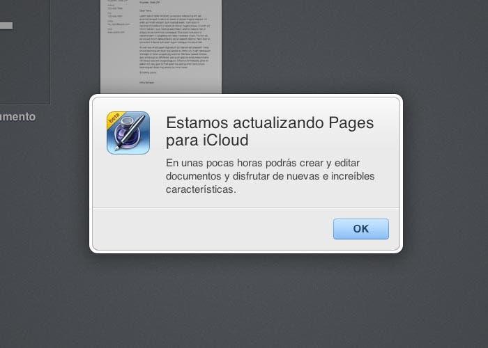 Apple cierra iWork para iCloud