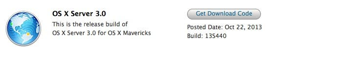 Obtén tu código de redención de OS X Server