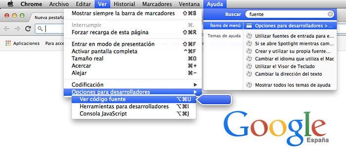 Encontrar menus con Spotlight en OS X