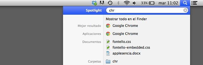 Lanzar aplicaciones en OS X con Spotlight