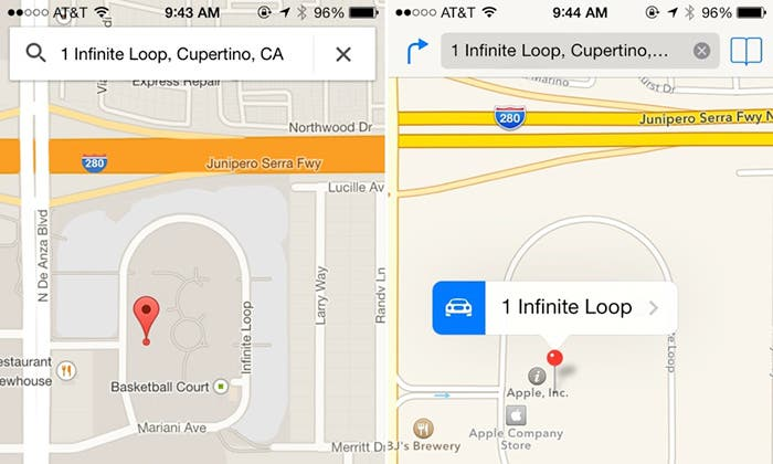 Comparativa Google Maps vs Maps