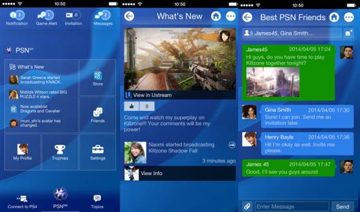 Aplicación PS4 para iOS