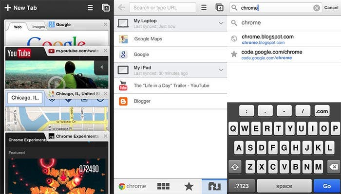 Capturas de pantalla de Google Chrome