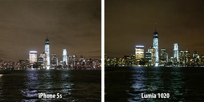 Apple iPhone 5s frente Nokia Lumia 1020