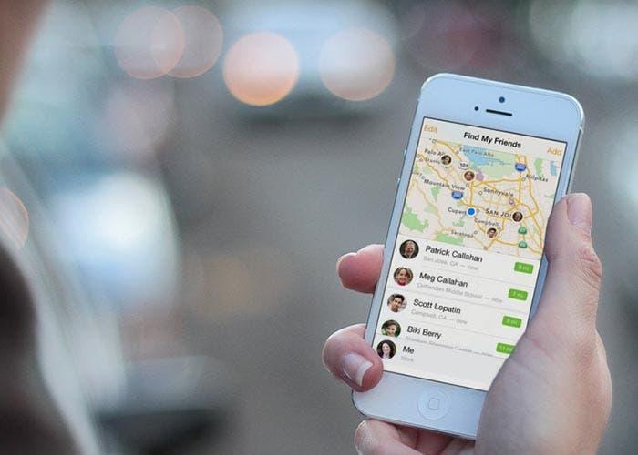 Nueva interfaz de Buscar a mis amigos para iOS 7