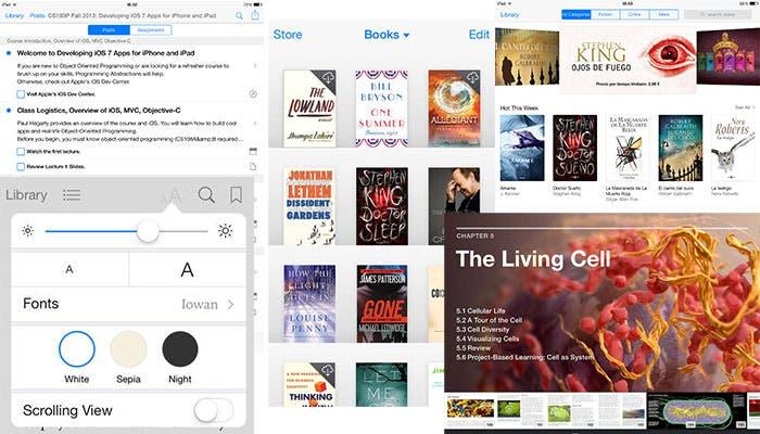 iBooks y iTunes U, nueva interrfaz