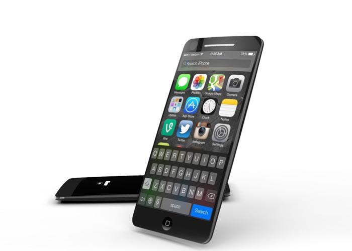 iPhone con pantalla curvada