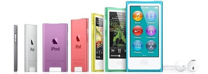 Colores disponibles del iPod Nano