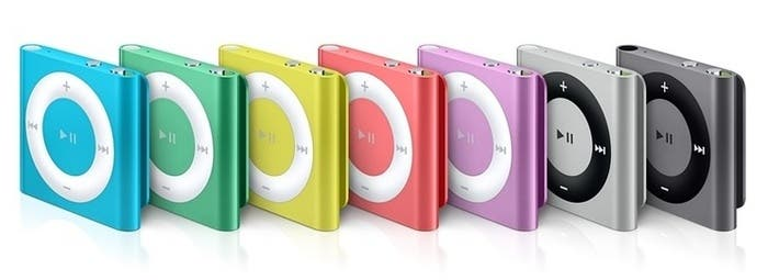 Colores disponibles iPod shuffle