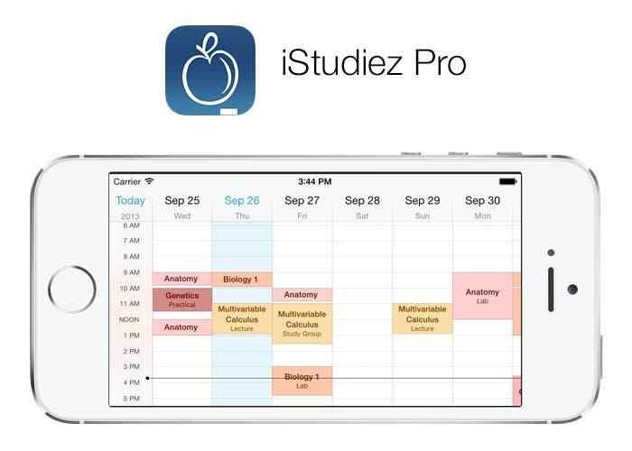 iStudiez Pro se actualiza para iOS 7