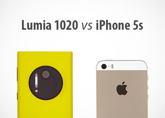 Nokia Lumia 1020 frente a Apple iPhone 5s