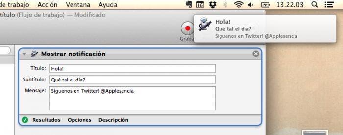 Mejoras de Automator y Applescripts en OS X Mavericks