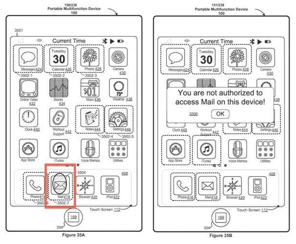 Patente de Apple sobre sensor biométrico en pantalla