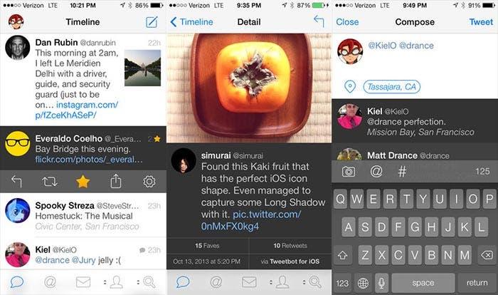 Capturas de Tweetbot 3 para iOS 7
