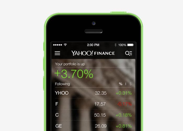 Nuevo diseño de Yahoo! Finance