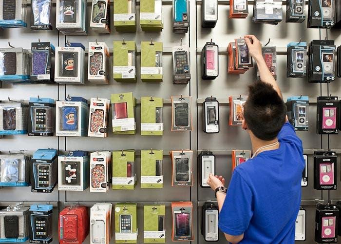 Accesorios en una Apple Store