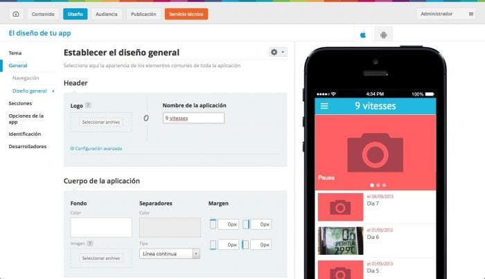 Diseña tu aplicación